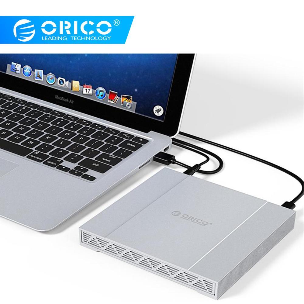 ORICO 2.5 Inch 2 Bay Aluminum Alloy Type-C Gen 2 Hard Drive Enclosure With Raid USB3.1 Gen2 10Gbps Hard Drive Enclosure