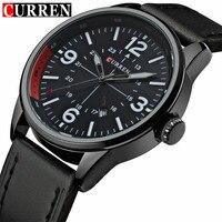 Relogio Masculino Fashion Montre Homme Reloj Hombre Quartz Watch Curren Male Watch Leather Wristwatches Men Curren