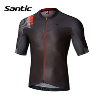 Santic Cycling Jersey Men Short Sleeve Anti sweat Road Mountain Bike Jersey Cycling Shirt Bicycle Wear Tops Maillot Ciclismo