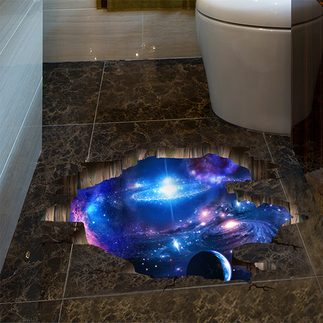 3D Creative Universe Milky Way Wall Sticker Home Decor Living Room Bedroom Floor Decoration Removable Vinyl Wall Decals