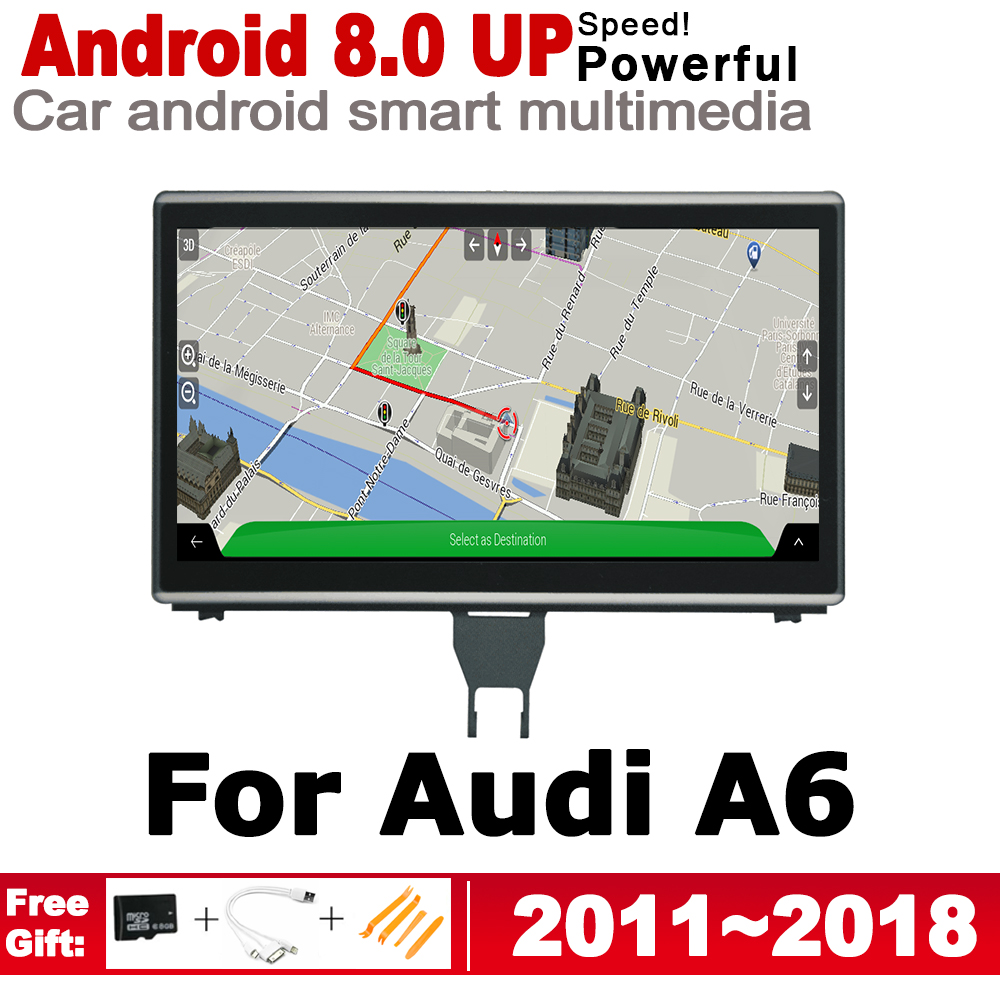 IPS Android 8.0 up Car Multimedia Player GPS Navigation For Audi A6 4G 2011~2018 MMI Original Style HD Screen 2GB+32GB WiFi
