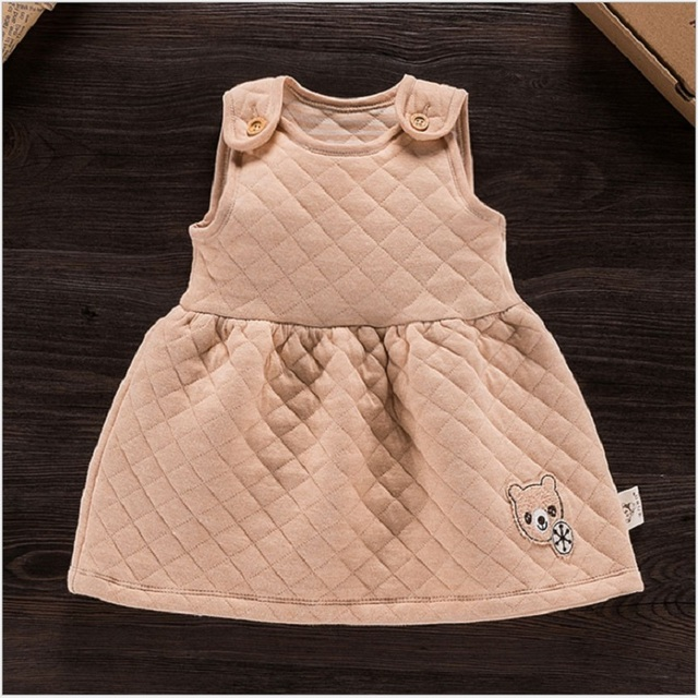 High Quality Newborn Baby Girl 100%Organic Cotton Dress New Spring Autumn Kids Baby Girl Birthday Party Cute Dresses Clothes