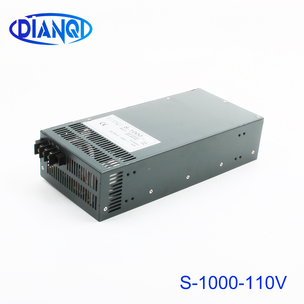 DIANQI 1000W 110V 9a Switching power supply AC to DC input 110v or 220v select by switch 1000w ac to dc power supply S-1000-110DIANQI 1000W 110V 9a Switching power supply AC to DC input 110v or 220v select by switch 1000w ac to dc power supply S-1000-110
