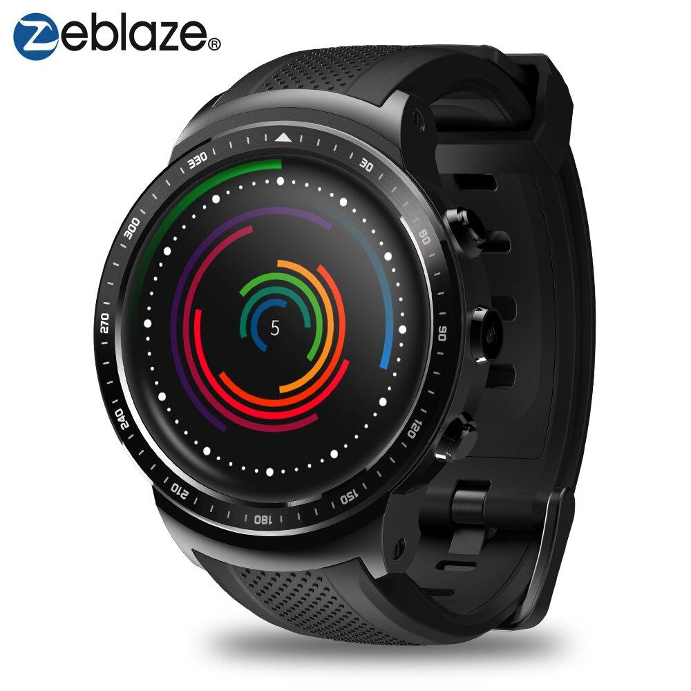 Новый Zeblaze Тор про 3g gps Smartwatch 1,53 дюйма Android 5,1 MTK6580 1,0 ГГц 1 ГБ + 16 ГБ Смарт часы BT 4,0 Носимых устройств