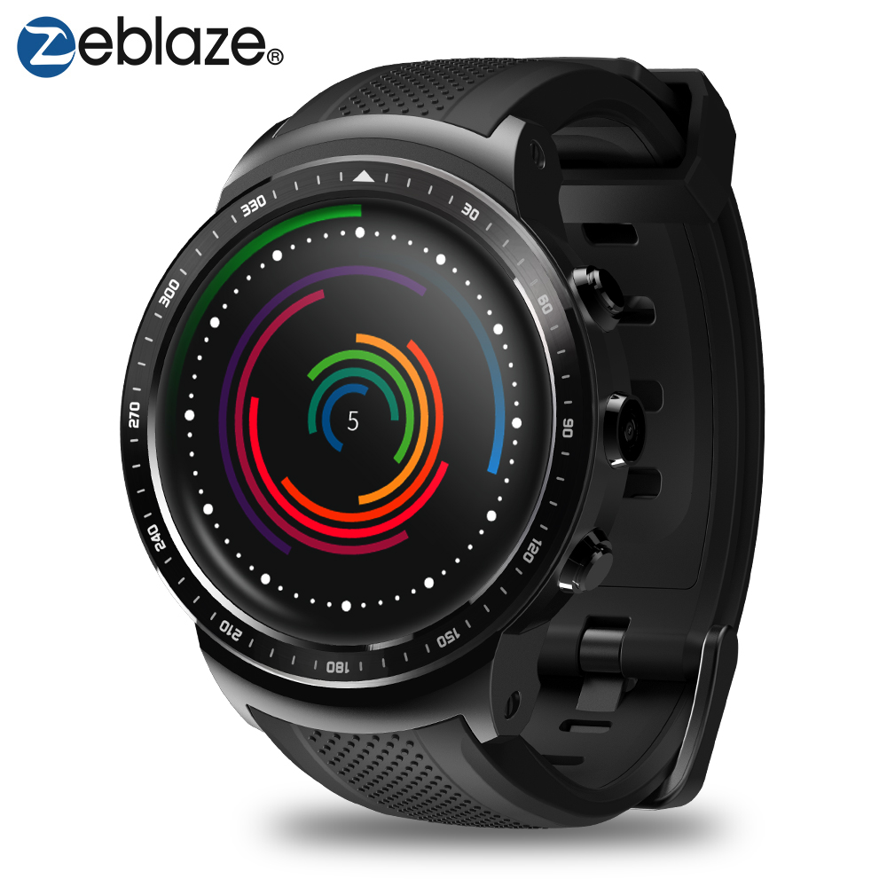 Recente zeblaze thor pro 3g gps smartwatch 1.53 polegada android 5.1 mtk6580 1.0 ghz 1 gb + 16 gb relógio inteligente bt 4.0 dispositivos wearable