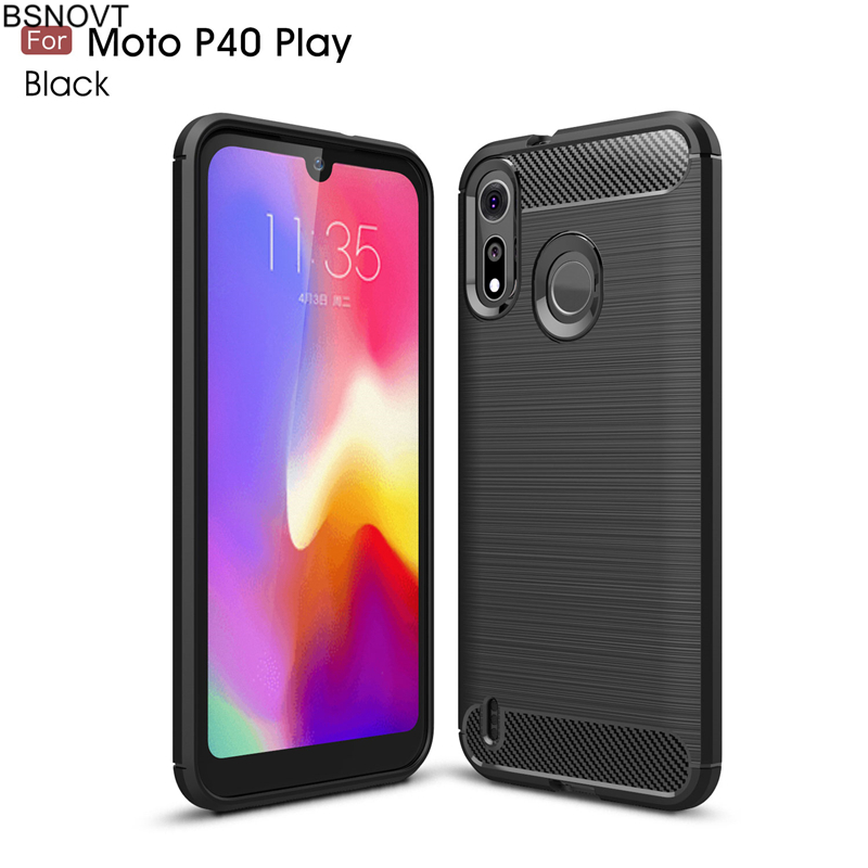 For Motorola Moto P40 Play Case Soft Silicone Rubber Hard PC Phone Case For Moto P40 Play Cover For Moto P40 Play Funda BSNOVT