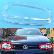Pour Volkswagen VW Golf GTI R32 MK4 1999 ~ 2005 phare de voiture phare clair lentille coque couvercle conducteur et passager côté Auto Shell