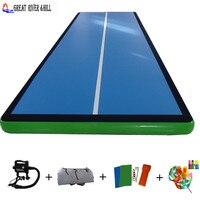Fedex доставка надувные воздуха трек для гимнастических подготовки воздуха акробатика коврик с бесплатной насос для продажи 5 м x 2 м