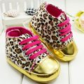 Leopard print gold fashion baby shoes first walkers pre-walkers