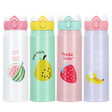 350/500ml Cute Fruit Thermos Cup Thermo Mug Stainless Steel Thermos Bottle Insulated Water Bottle Vacuum Flask Thermal Tumbler