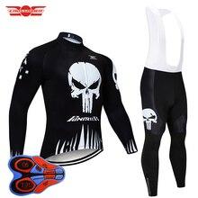 Crossrider 2020 siyah bisiklet forması 9D önlük seti MTB üniforma bisiklet giyim nefes bisiklet giyim erkek uzun bisiklet giyim
