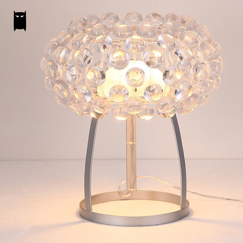 35/50cm Acrylic Ball Glass Shade Round Caboche Lampshade Table Lamp Fixture Modern Abajour Desk Light Luminaria Design Bedroom