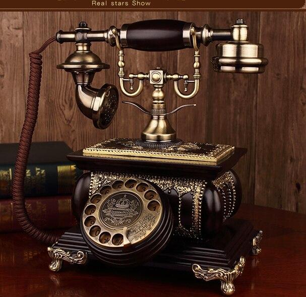 Vintage rotating dial phone Retro ringing tones style telephone