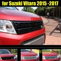 RKAC хорошее качество 1 шт. abs серебристый, черный автомобилей Передняя решетка для Suzuki Vitara 2015 2016 2017 стайлинга автомобилей Авто аксессуары