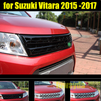 RKAC GOOD QUALITY 1 PCS abs Silver Black Car Front grille for Suzuki Vitara 2015 2016 2017 Car styling Car Auto accessories