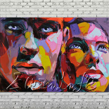 Palette knife painting portrait Palette knife Face Oil painting Impasto figure on canvas Hand painted Francoise Nielly 12