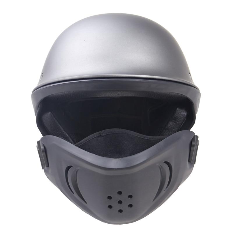 DOT New Arrivew casco de motocicleta cascos de medio rostro de motocicleta con máscara desmontable - 2
