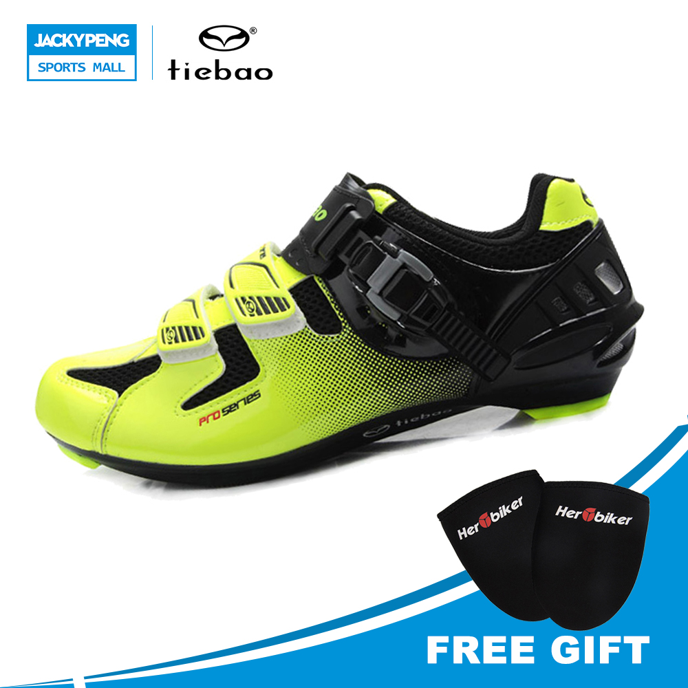 Tiebao New Tiebao Bicycle Racing Sports Road Cycling Shoes Breathable Athletic MTB Road Bike Auto-lock Shoes festo imported cylinder advu 25 160 a p a s6
