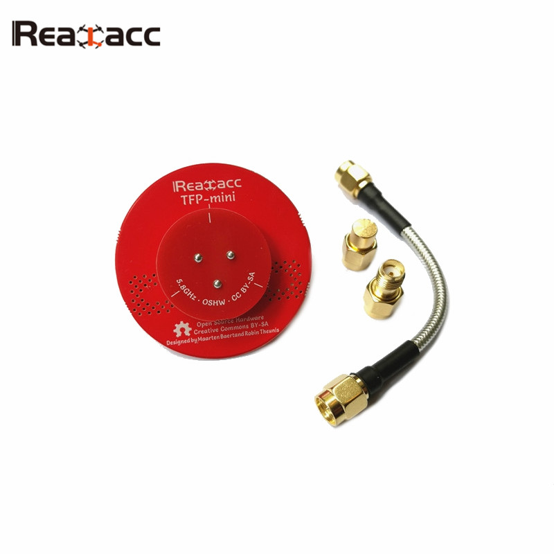 Hot New Realacc TFP-Mini Triple Feed Patch Dia. 45mm 5.8G 8dBi FPV Flat Panel Pagoda Antenna With Terminator For RC Multicopter 2pcs ocday pagoda 2 pagoda 2 5 8ghz fpv antenna sma