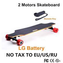 2016 New Popular 4 wheel Boosted Electric Skateboard Hoverboard Longboard LG battery Unisex Outdoor with Remote Control