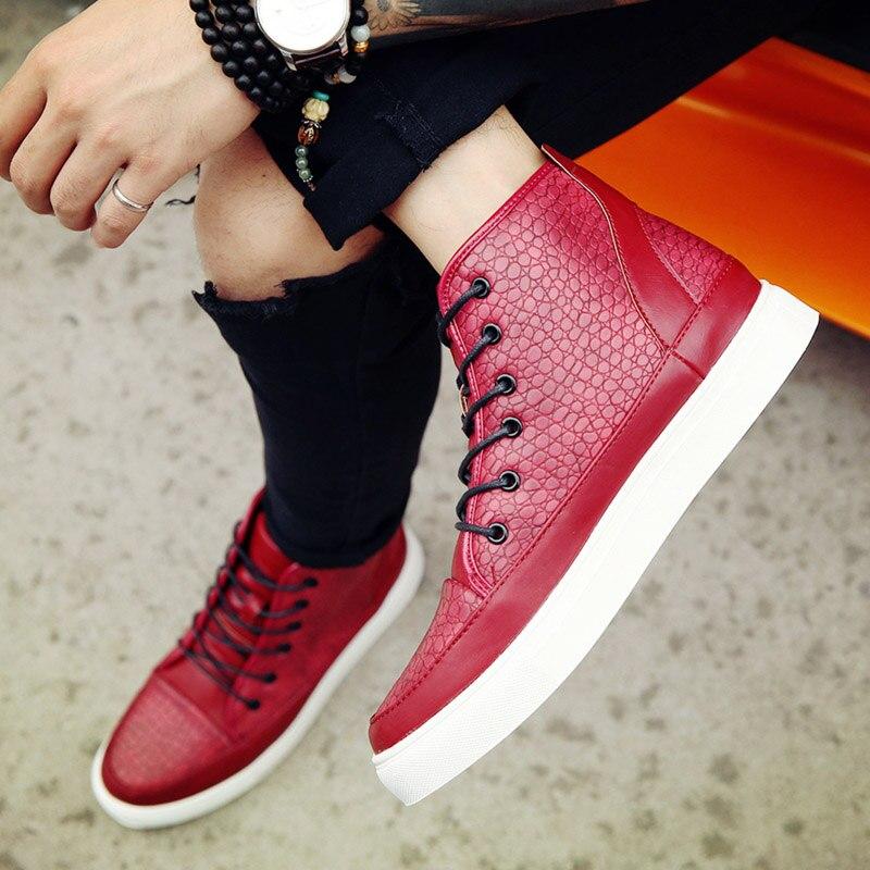 Livre Ar Preto Boots Botas Primavera Amortecimento Confortáveis Plataforma Aa20094 Leve vermelho Ao Ankle Caminhada azul De Homens Sapatos Outono qqzFva