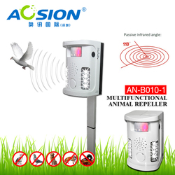 Garden Tools Aosion Battery operated electronic Dog cat fox repeller PIR ultrasonic repel dogs birds cats