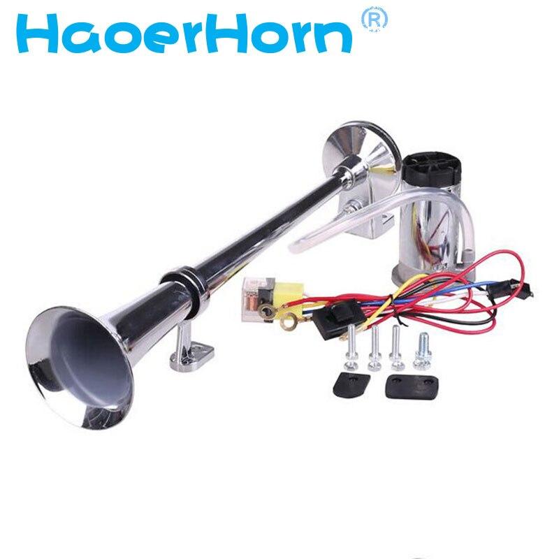 150DB Super Laut 12 V Einzigen Trompete Lufthorn Kompressor Auto Lkw Boot Motorrad auto horn HR-3301