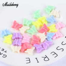 Plastic Butterfly Beads Light Color Bow-Tie Big Hole For Jewelry Making Childrens DIY Gifts Hair Ring Bracelets Necklace