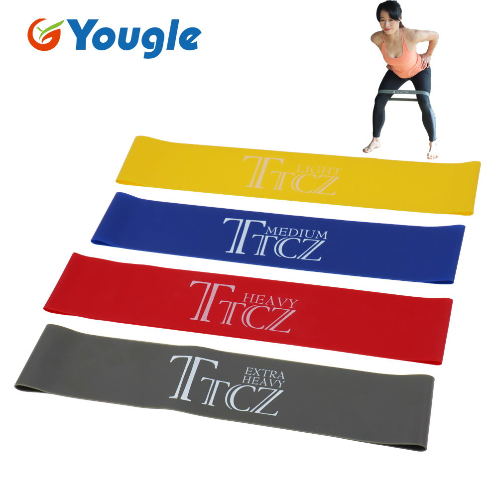 TTCZ Yoga Pilates Resistance Band Exercise Loop Rubber Bands Fitness Loop Rope Stretch Band Cross Fit Band For Bodybuilding