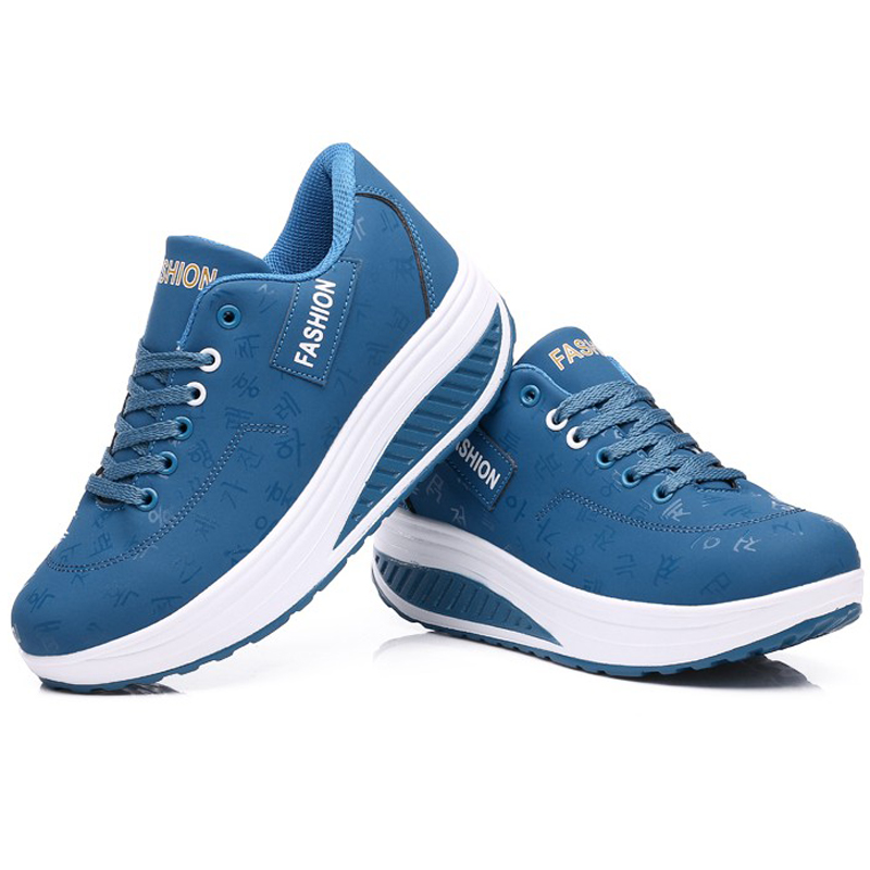 Zapatos del oscilación de adelgazamiento zapatos de plataforma de las mujeres za
