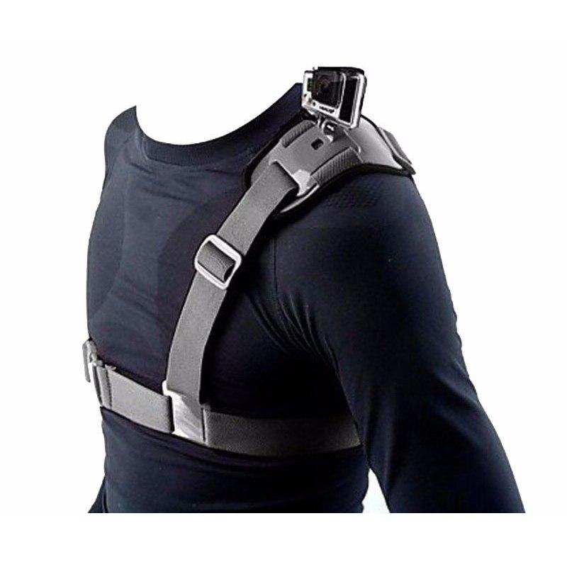 Para Gopro accesorios ajustable correa de hombro Universal el cinturón del pecho para el héroe 5 GitUP Git2