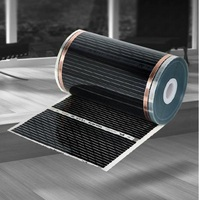 100cm Wide 6 5M Geothermal Crystal With Heating Floor Of Carbon Fiber Electric Heating Floor Film