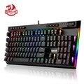 Механическая игровая клавиатура Redragon K580 VATA RGB светодиодный с подсветкой 104 клавиш, большие клавиши против привидений, синие переключатели д...
