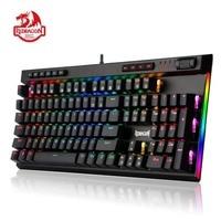Redragon K580 VATA Mechanical Gaming Keyboard RGB LED Backlit 104 Keys Anti Ghosting Macro Keys Blue Switches for DOTA 2 Gamers