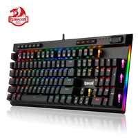 Redragon K580 VATA Teclado mecánico para juegos RGB LED retroiluminado 104 teclas Anti-fantasma Macro teclas azul interruptores para DOTA 2 jugadores