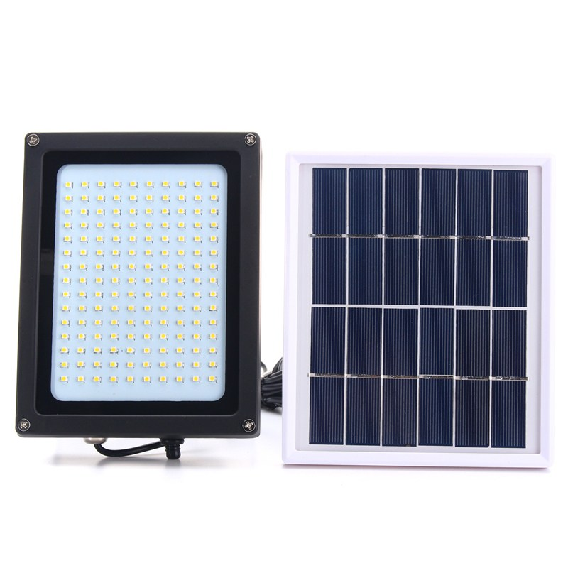 150 LED Floodlight Solar Light 3528 SMD Solar Powered LED Flood Light Sensor Outdoor Garden Security Wall 8W