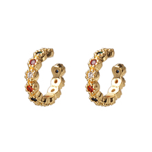 цена 2019 simple lovely girl's earring gift gold cz bar skinny rainbow earrings bar classic minimal charming earrings stud women онлайн в 2017 году