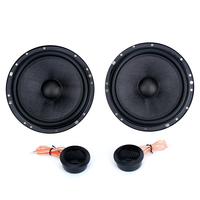 Dasaita 6.5 2 way component speaker 60W RMS 120W MAX with Glass fiber woven rubber surround +1 tweeter silk dome High Quality