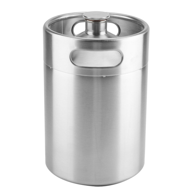 2L Stainless Steel Beer Mini Keg With Pressurized Faucet 3