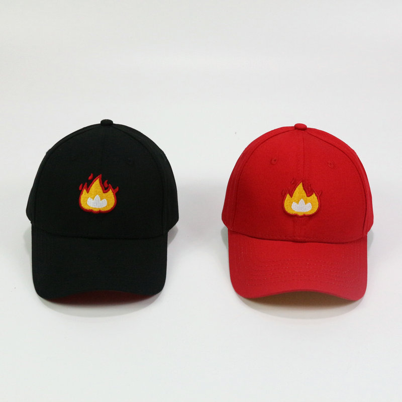 Flame Baseball Cap New Fashion Men and Women Outdoor Funny Hats Justin  Bieber Hip Hop Caps Black Red Bones Snapback Hats fd8d3547edc