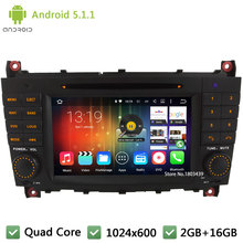 Quad core Android 5.1.1 1024*600 Car DVD Player Radio Audio Stereo Screen DAB For Benz C class W203 C230 CLK 200 CLK350 CLK W209