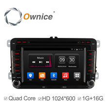 Ownice Android 4.4 4 Core dvd-плеер автомобиля для VW passat jetta polo golf GPS автомобиля мультимедиа wi-fi радио 1024*600 поддержка 3 Г DAB +