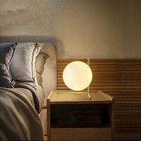 Современные стеклянные гладить настольные лампы в стиле АР деко Nordic настольная лампа светодиодный E27 с 3 вида стилей для книжного магазина к