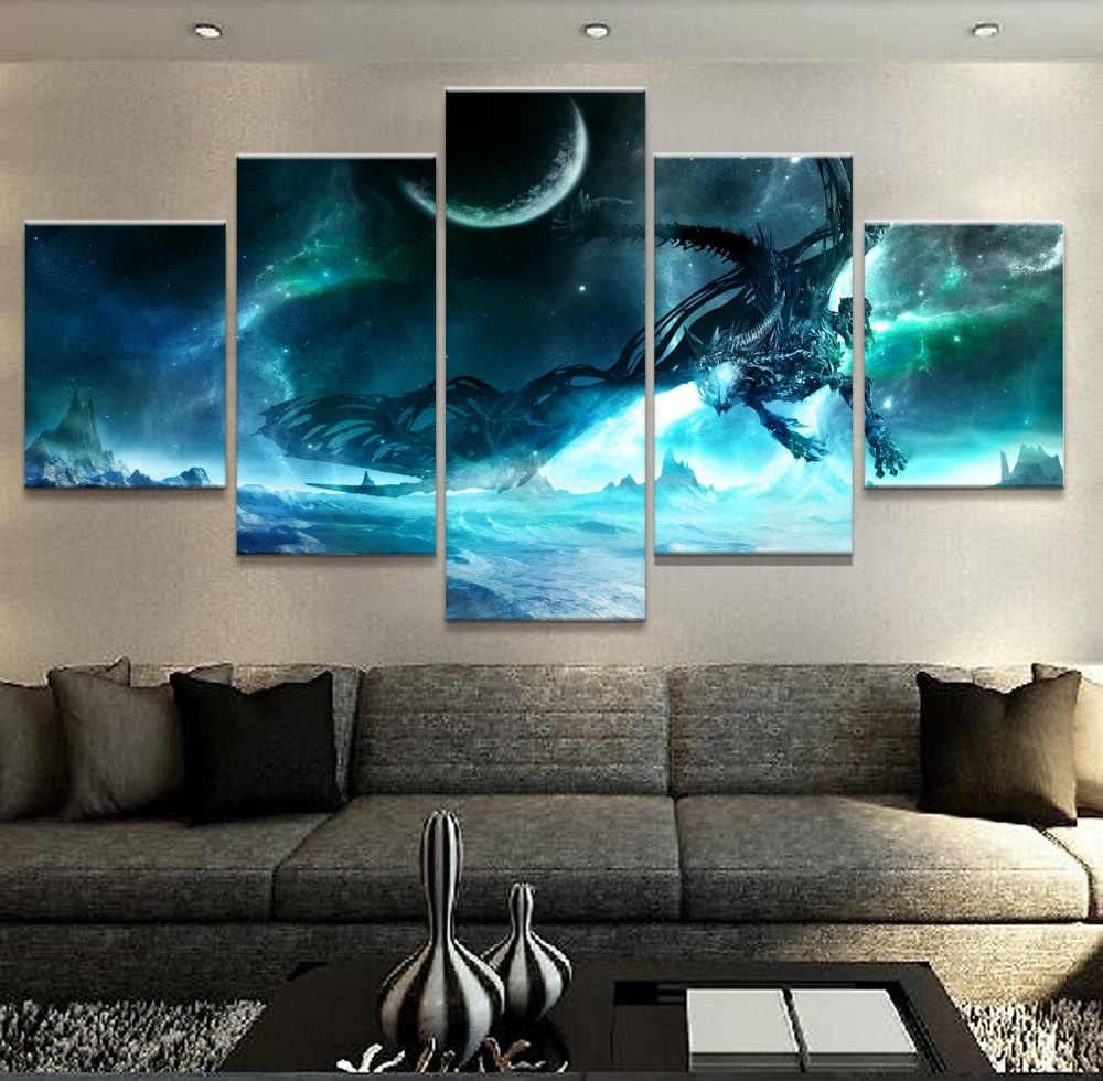 Modern abstract wall art pictures home canvas posters 5 - Contemporary wall art for living room ...