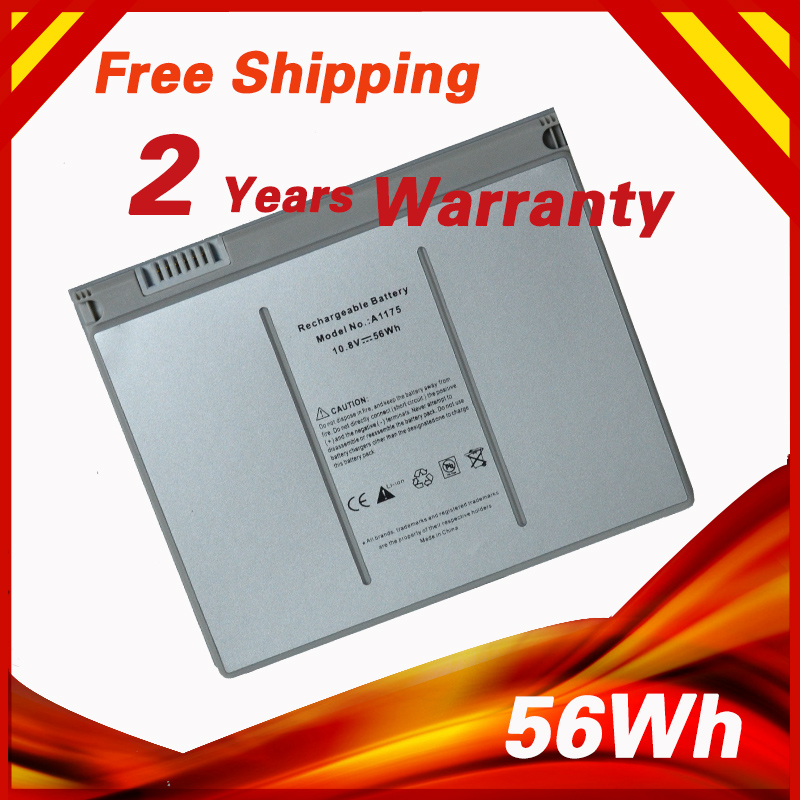 "56Wh Laptop Batteri för Apple MacBook Pro 15 ""A1175 A1260 MA463 MA464 MA600 MA601 MA609 MA610 MA348 MA348 * / A MA348G / A MA348J / A"