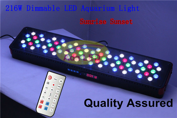 Aliexpress.com : Buy Auto Dimmable Led Coral Reef Aquarium Light 216W  Artemis 72x3W Remote Control + Fan Control +