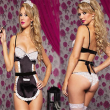 high Quality Sexy Costume For Women Erotic Maid Costumes Sexy Lingerie hot france style Maid Uniform Underwear sex products