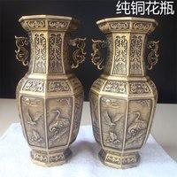 Украшение, арт поделка большая античная латунь медная ваза украшение Daming Xuande восемь доставка ваза