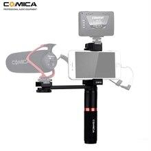 Comica CVM R3 Smartphone Kit Rig Vídeo Estabilizador de Aperto de Mão Handle para o iphone X 8 7 6s Plus para Samsung huawei etc.