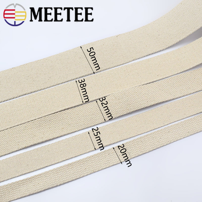 9Meter 20 25 32 38 50mm 100 Cotton Webbings For Bag Strap Backpack Band Ribbons Belt Strapping Bias Binding Tape in Webbing from Home Garden